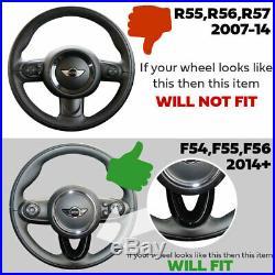 Upgrade sports steering wheel for BMW Mini F54, F55, F56 Carbon Fibre JCW Flat Red