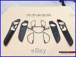 W205 Mercedes Benz C63 AMG Glossy Autoclave Carbon Fiber Interior Overlay Covers